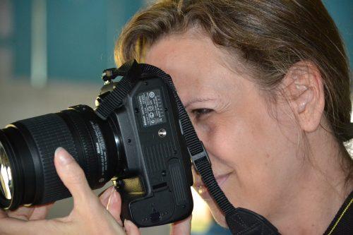 Rhonda with camera:DR 2013 copy